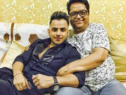 Millind Gaba with his father