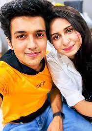 Kinjal Dave with her boyfriend