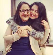 Rucha Hasabnis with her mother