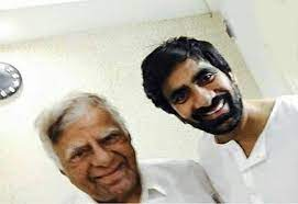 Ravi Teja with his father