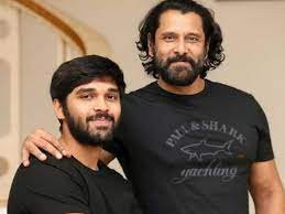 Dhruv Vikram with his father