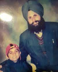 Karan Aujla with his father