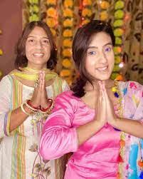 Sameeksha Sud with her mother
