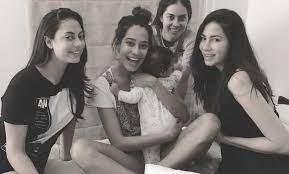 Malika Haydon with her sisters