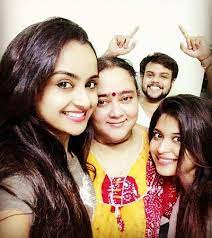 Ishita Ganguly with her family