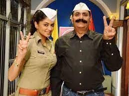 Kavita Kaushik with her father