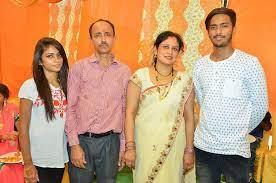 Nisha Guragain with her family