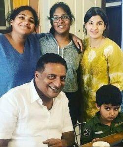 Prakash Raj with his children