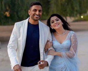 Sonalee Kulkarni with her husband