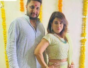 Pakhi Hegde with her husband