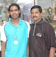 Sharath Kamal with his father