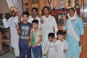 Vikas Krishan Yadav's family