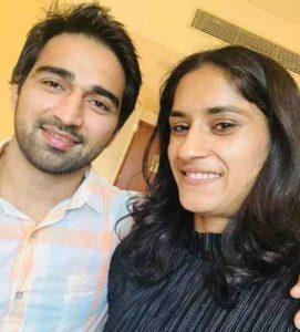 Vinesh Phogat with her husband
