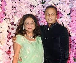 Tina Ambani with her husband Anil