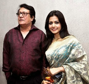 Ranjit Mallick with his daughter