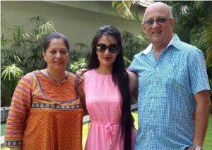 Sai Lokur with her parents