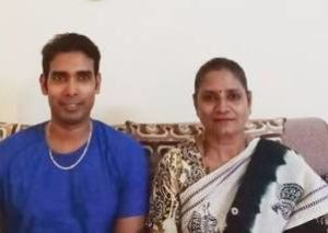 Sharath Kamal with his mother