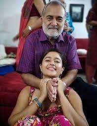 Poonam Bajwa with her father