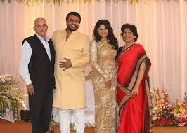Sai Tamhankar with her parents