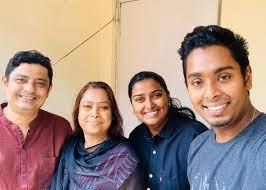Atanu Das with his parents & wife