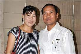 Mary Kom with her husband