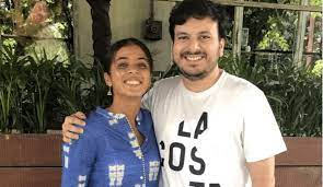 Ankita Raina with her brother
