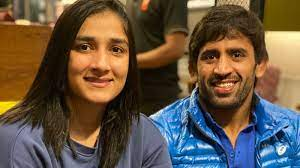 Bajrang Punia with his wife