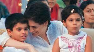 Priyanka Gandhi with her kids