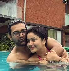 Poonam Bajwa with her boyfriend