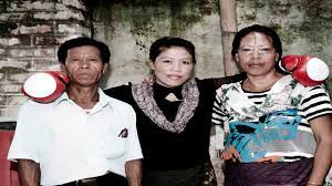 Mary Kom with her parents
