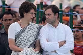 Priyanka Gandhi with her brother