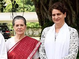 Priyanka Gandhi with her mother