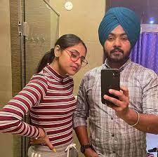 Baani Sandhu with her brother