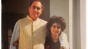 Priyanka Gandhi with her father