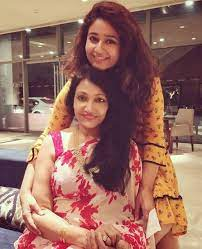 Poonam Bajwa with her mother