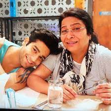 Abhishek Malik with his mother