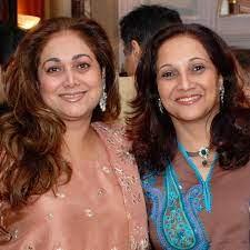Tina Ambani with her sister
