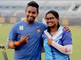 Atanu Das with his wife