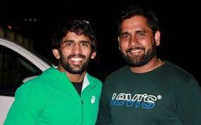 Bajrang Punia with his brother