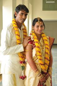 Sharath Kamal with his wife