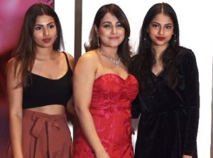 Pakhi Hegde with her daughters