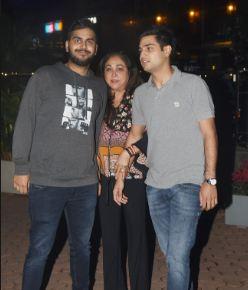 Tina Ambani with her sons
