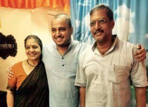 Malhar Patekar with his parents