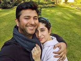 Neha Bhasin with her husband