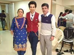 Ankush Bhardwaj with his parents