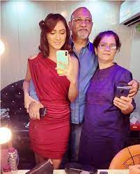 Krissann Barretto with her parents