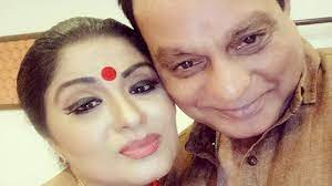 Sudha Chandran with her husband