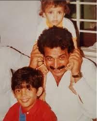 Arjun Bijlani with his father
