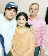 Mohsin Khan with his parents