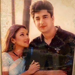 Rupali Ganguly with her husband